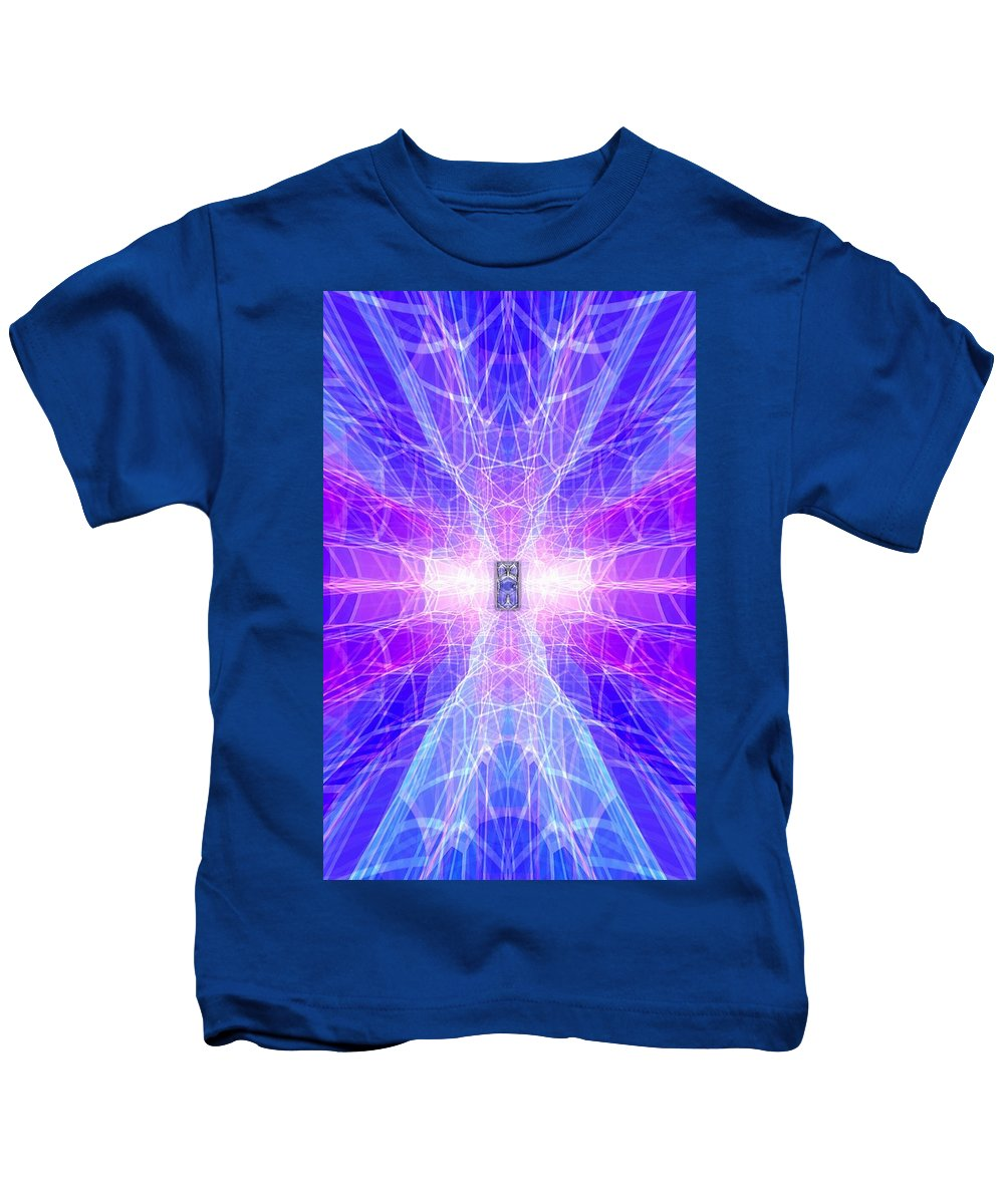 Surrealism Kids T-Shirt featuring the digital art The Final Door by Mark Sellers