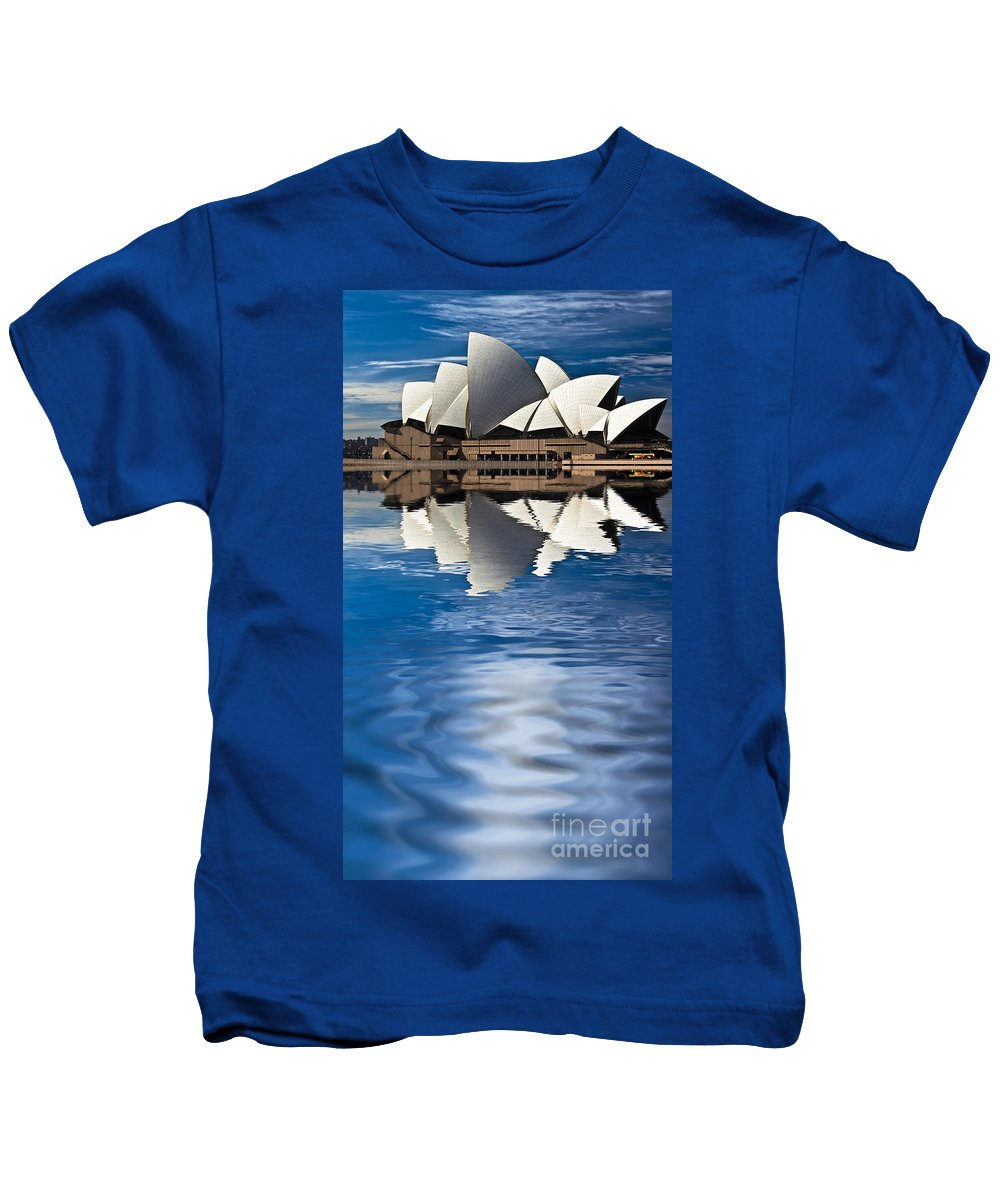 Sydney Opera House Sydney Harbour Kids T-Shirt featuring the photograph The Iconic Sydney Opera House by Sheila Smart Fine Art Photography