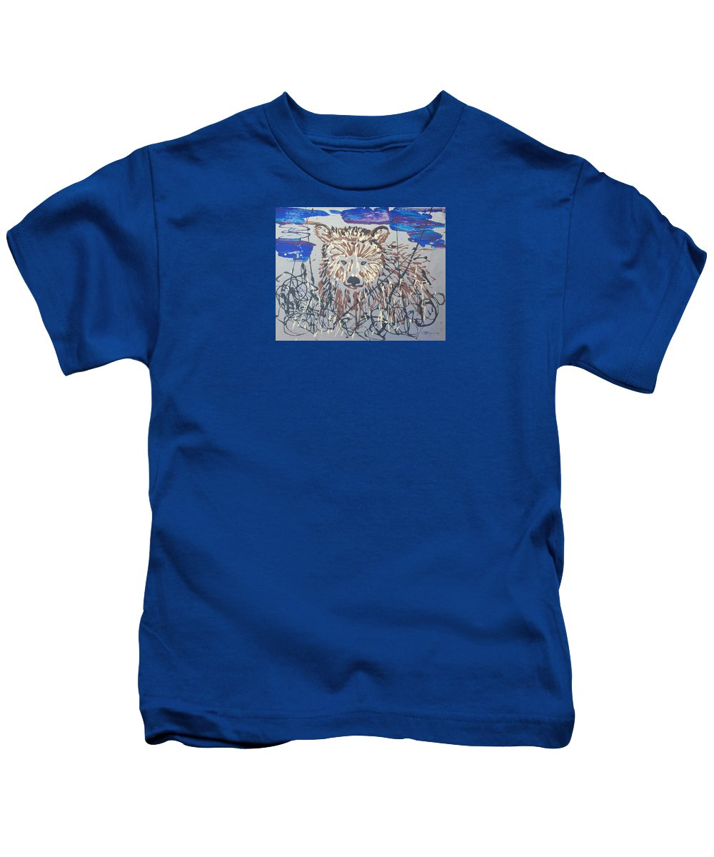 Abstract/impressionist Painting Kids T-Shirt featuring the painting The Kodiak by J R Seymour