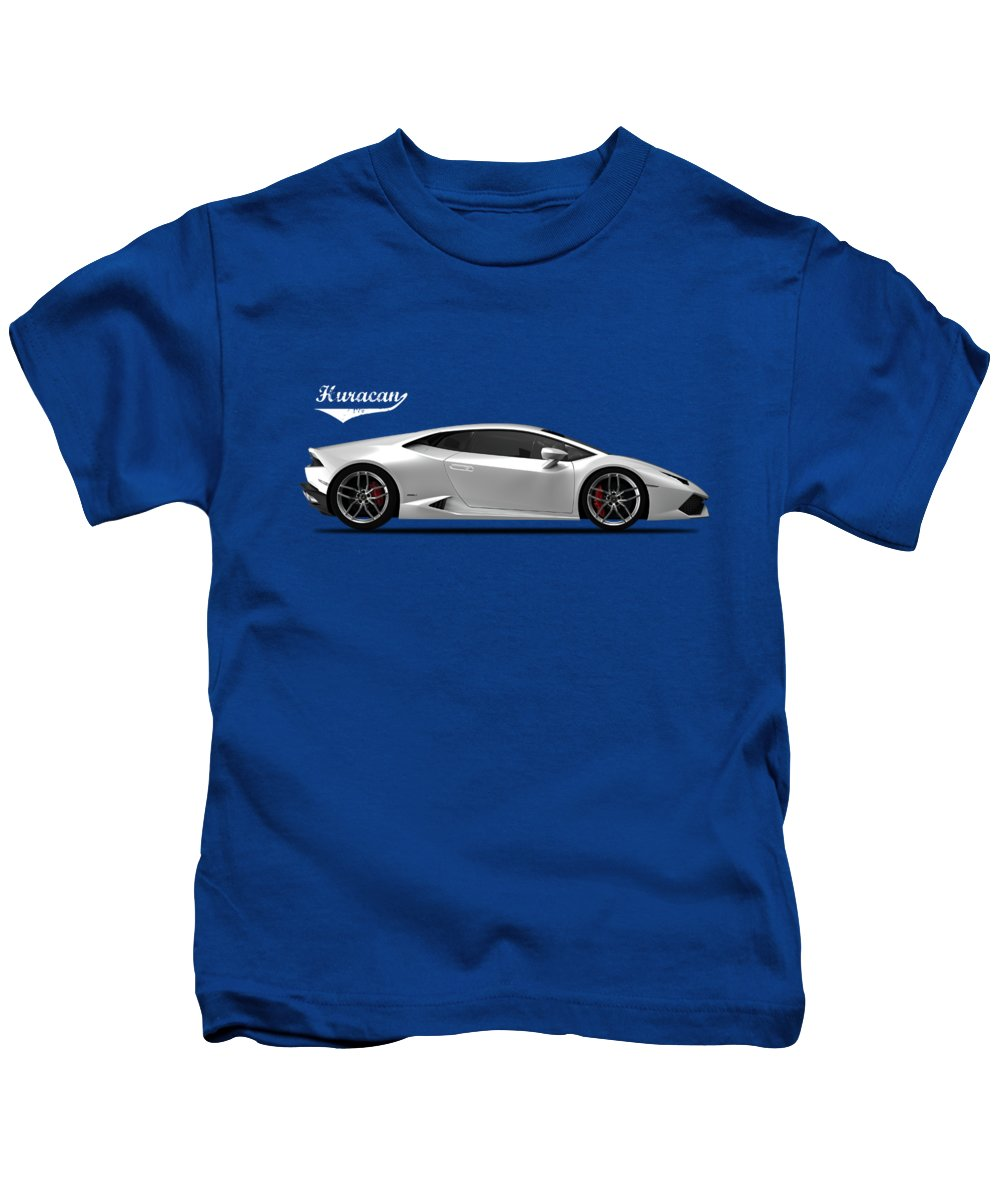 Lamborghini Huracan Kids T-Shirt featuring the photograph The Lamborghini Huracan by Mark Rogan