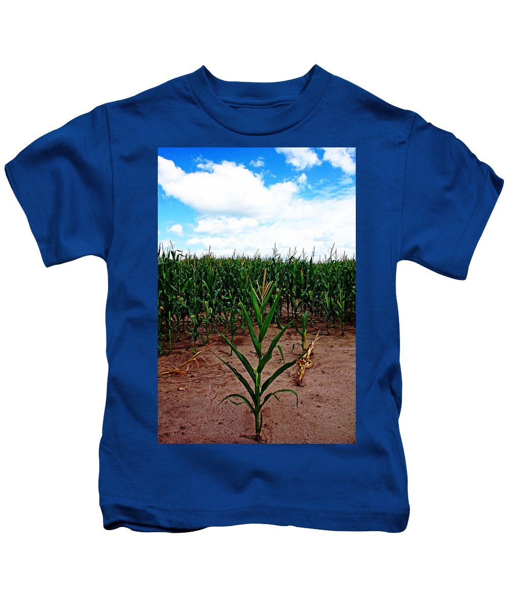 Corn Field Kids T-Shirt featuring the photograph The Loner by Debbie Oppermann