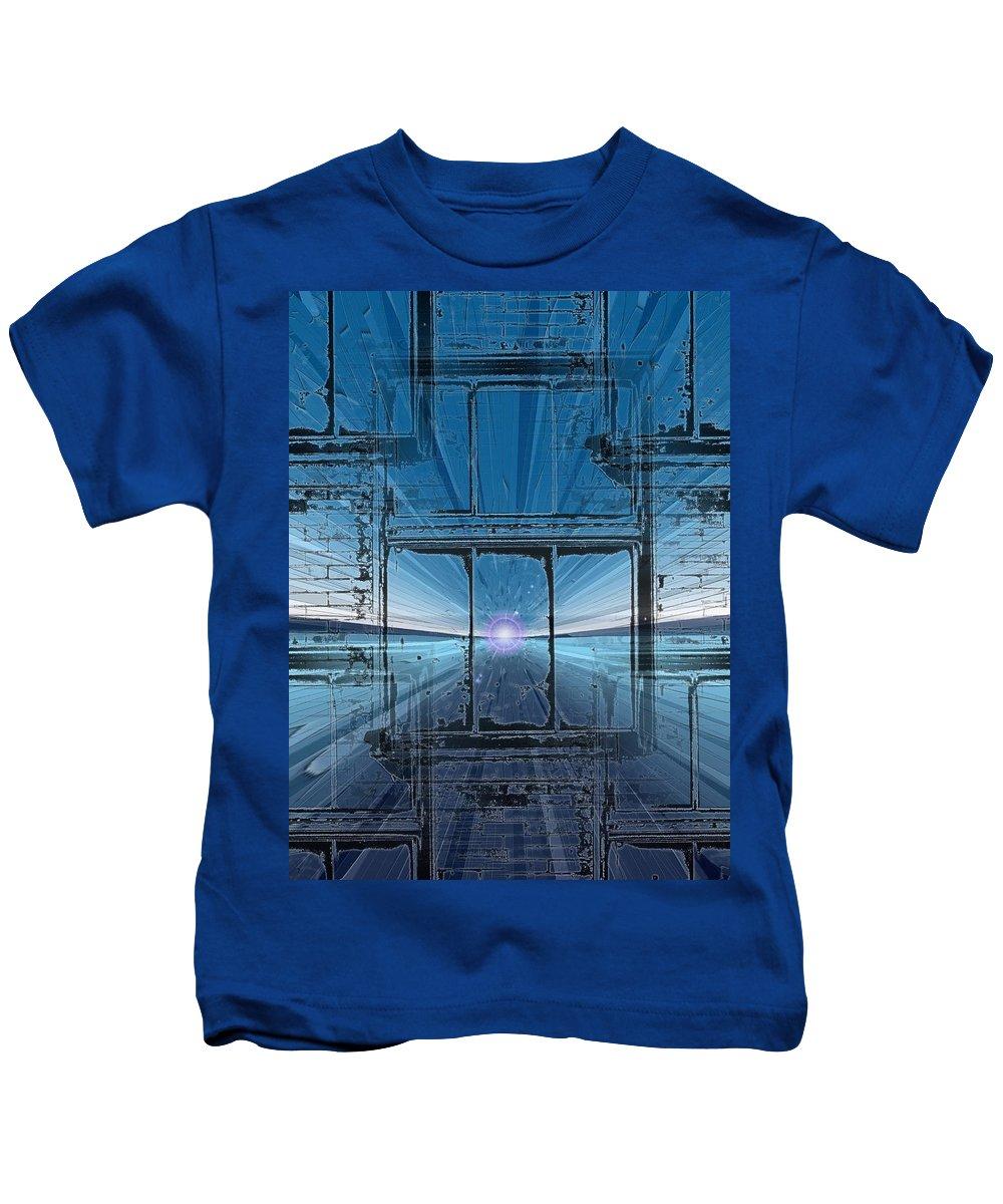 Kids T-Shirt featuring the digital art The Looking Glass by Tim Allen