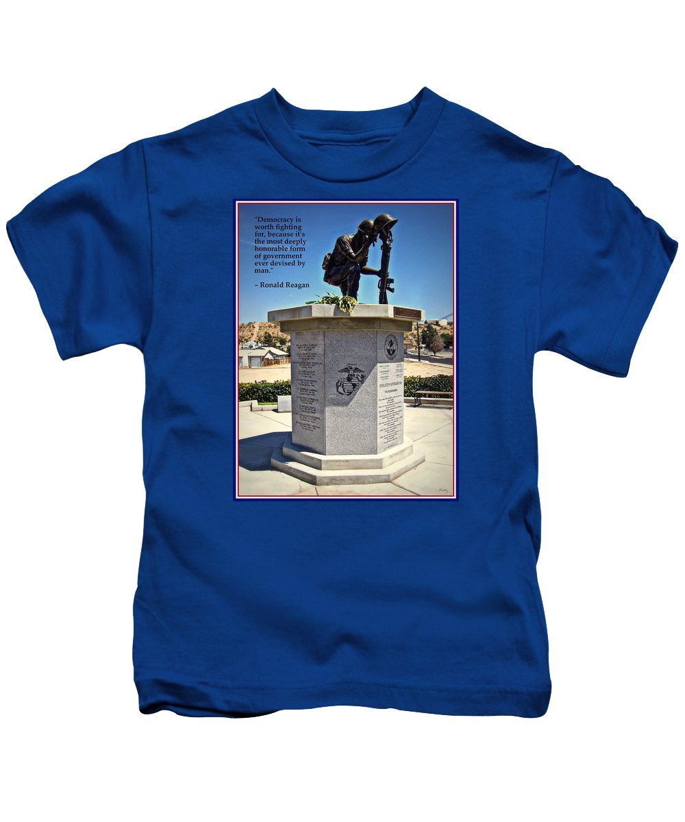 Patriotic Kids T-Shirt featuring the photograph The Memorial by Glenn McCarthy Art and Photography
