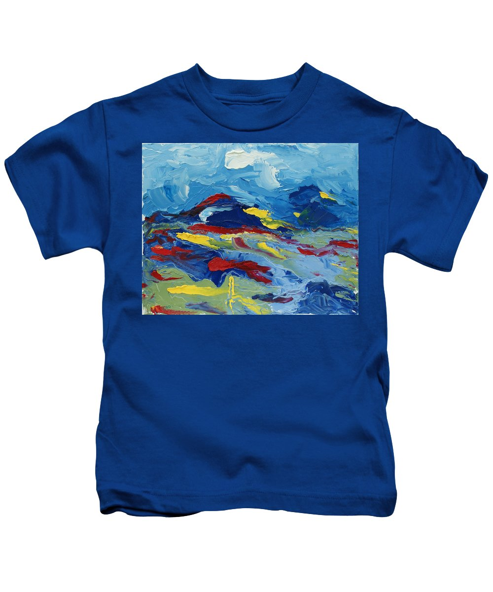 Abstract Kids T-Shirt featuring the painting The Peak by Christopher O'Kelley