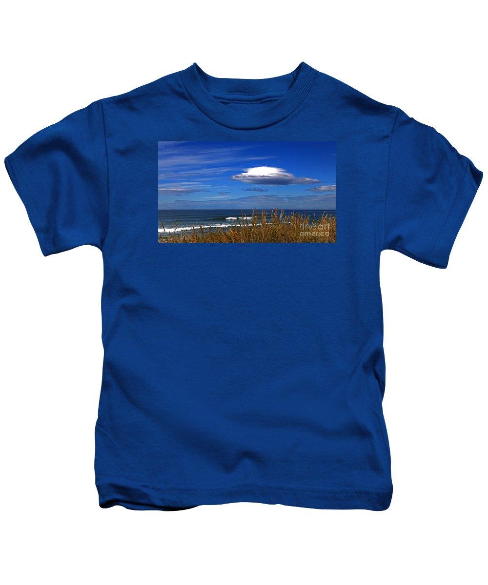 Blue Kids T-Shirt featuring the photograph The Seductive Sea by Nareeta Martin