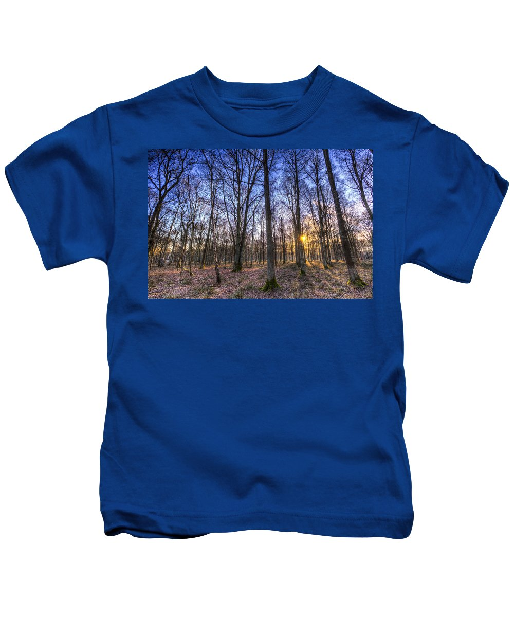 Forest Kids T-Shirt featuring the photograph The Sun Ray Forest by David Pyatt