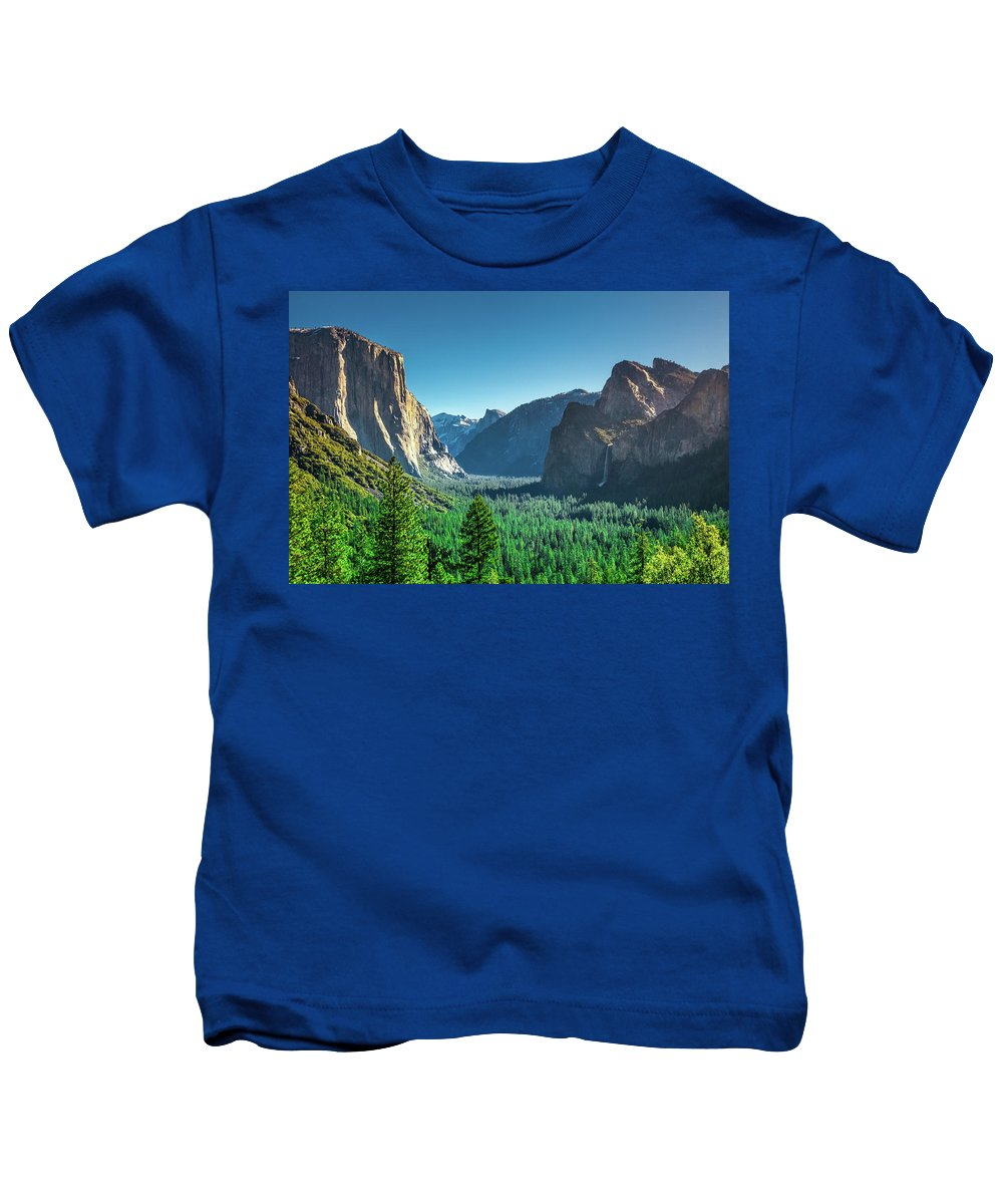 California Kids T-Shirt featuring the photograph The Valley by Jean-Claude Ardila