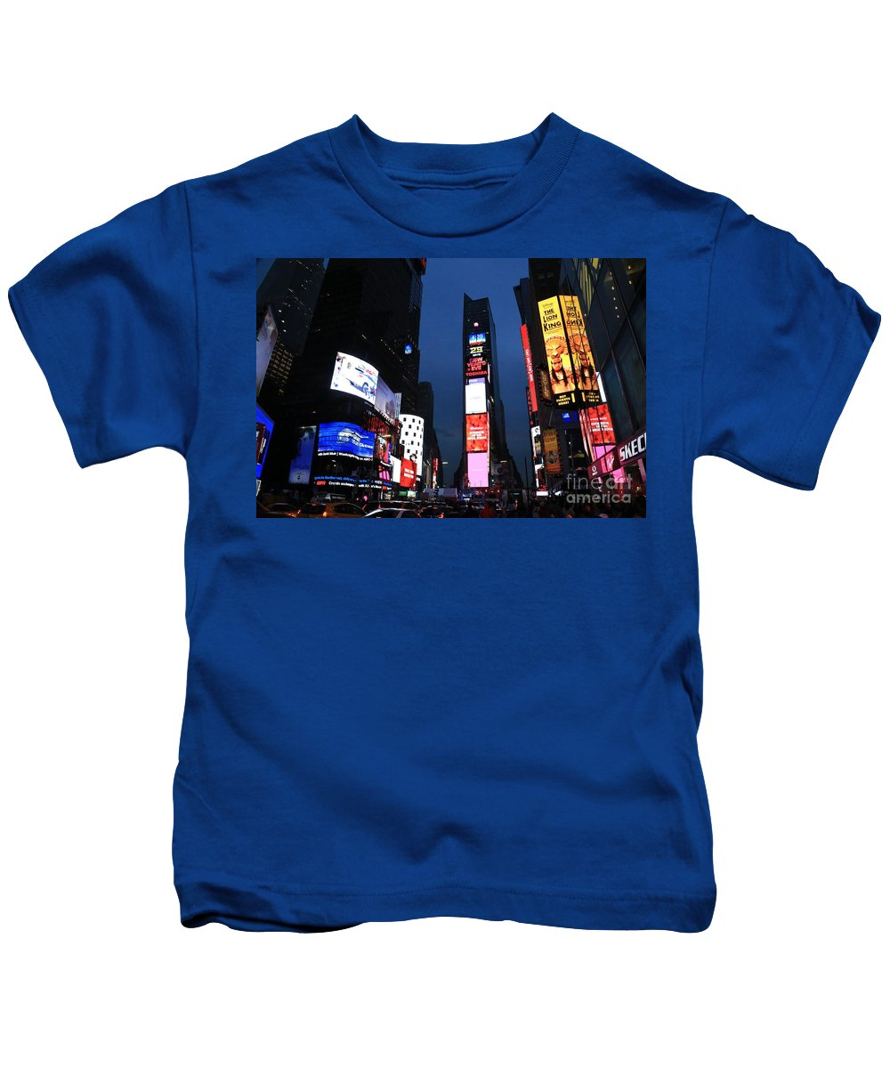 Destination Kids T-Shirt featuring the photograph Times Square New York by Douglas Sacha