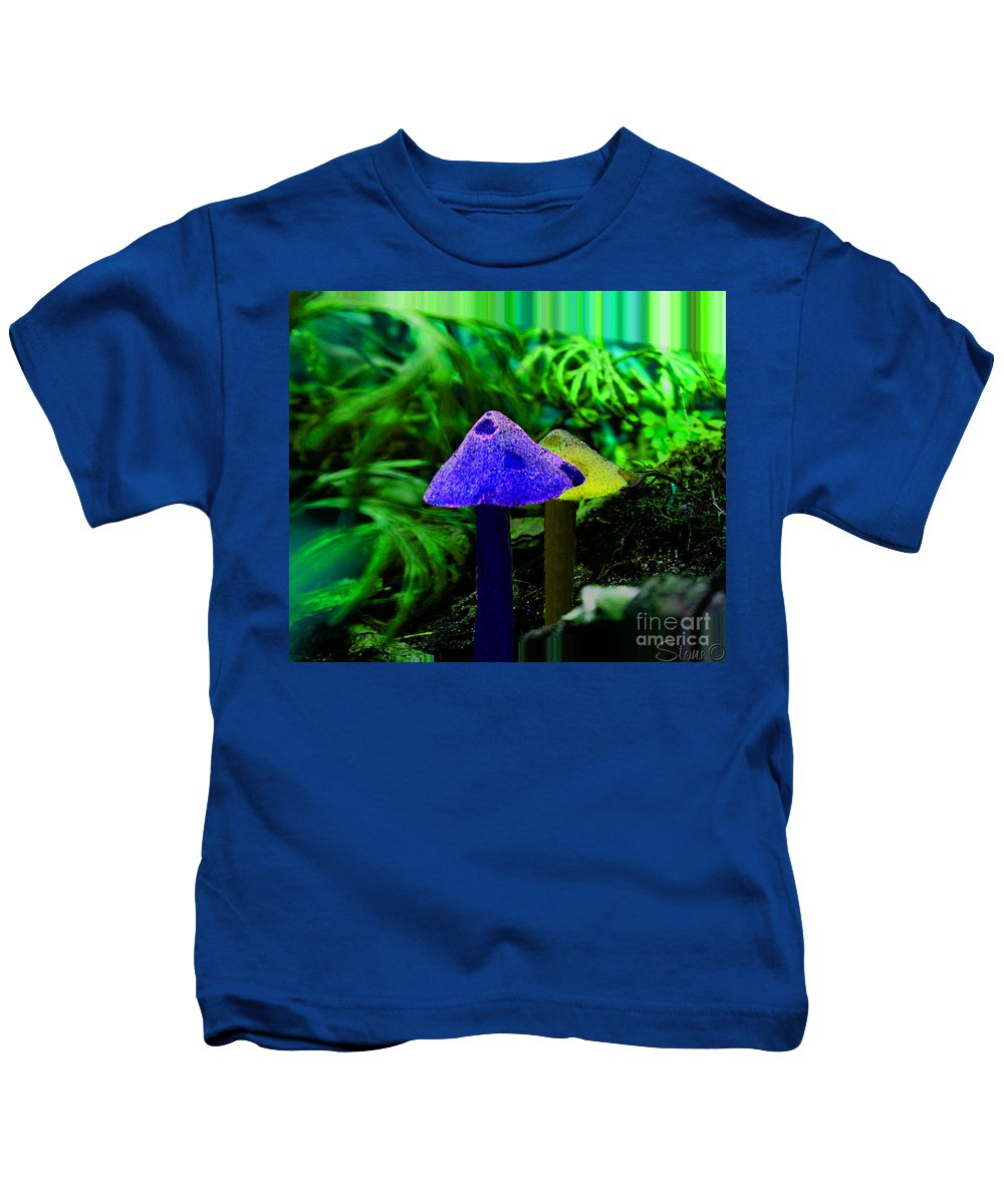 Mushroom Kids T-Shirt featuring the photograph Trippy Shroom by September Stone