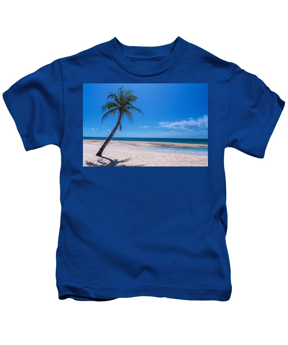 Beach Kids T-Shirt featuring the photograph Tropical Blue Skies And White Sand Beaches by James BO Insogna