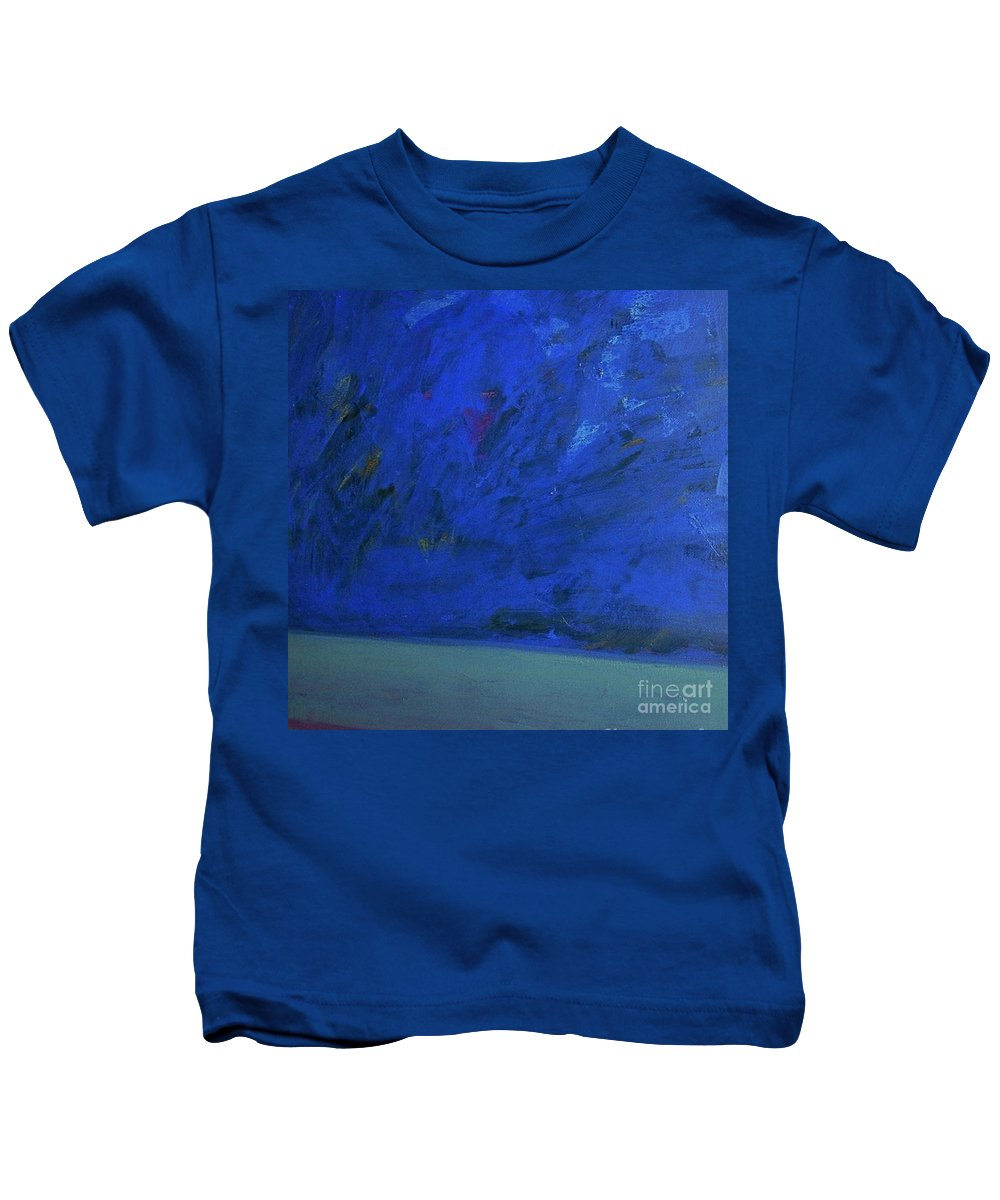 Seascape Kids T-Shirt featuring the painting Tropical Storm by Vesna Antic