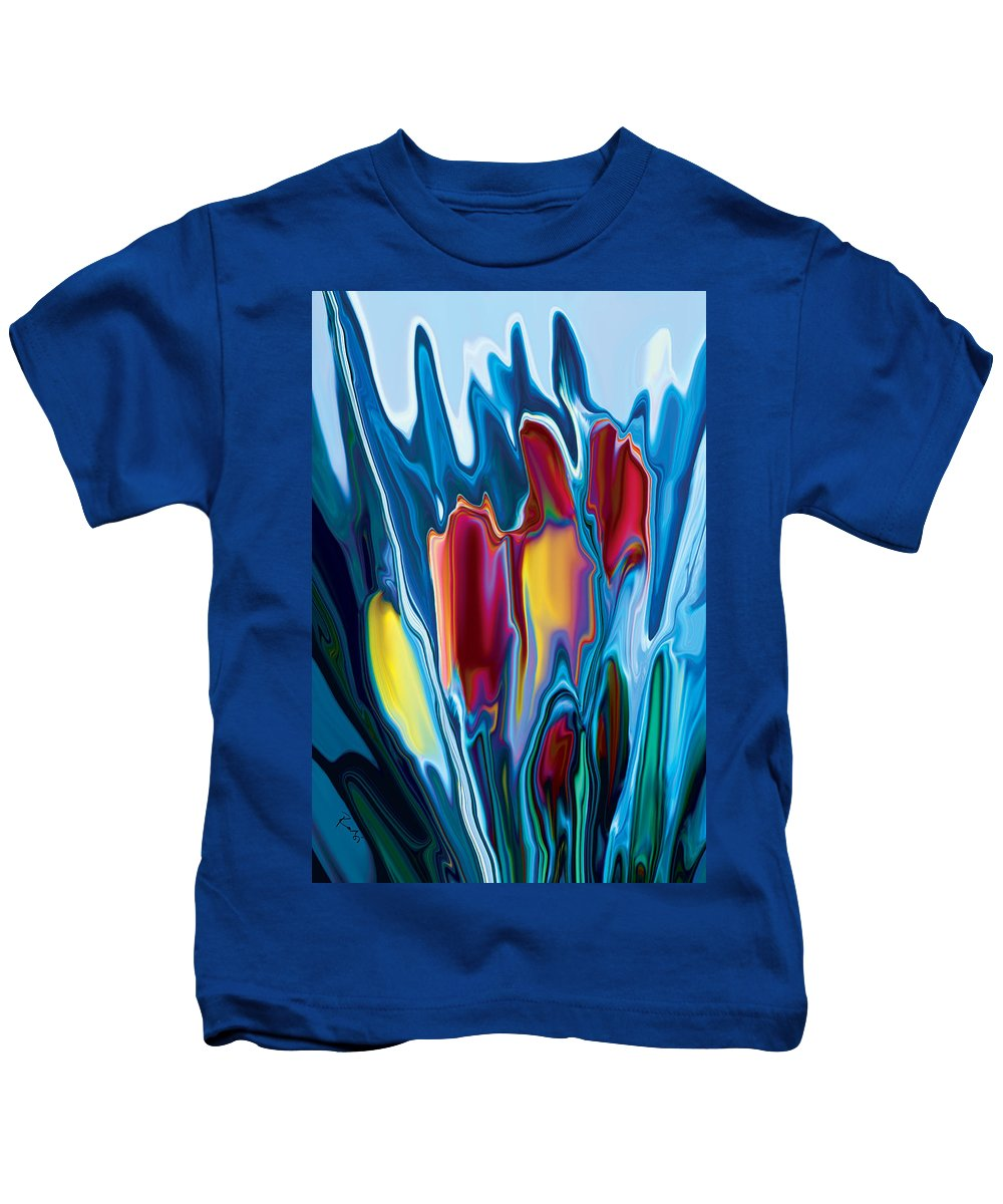 Botanical Kids T-Shirt featuring the digital art Tulip by Rabi Khan