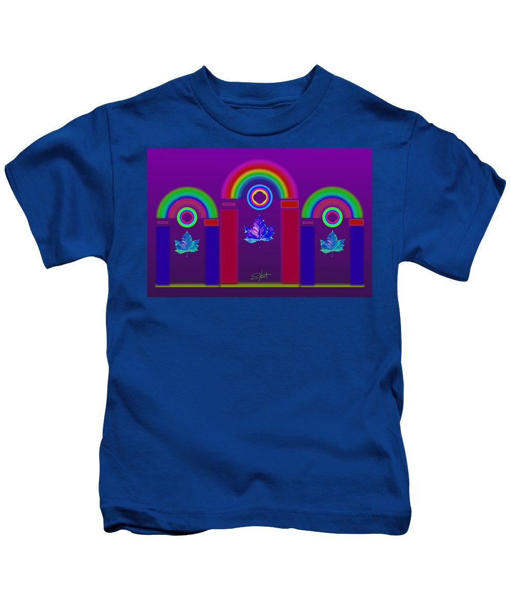 Classical Kids T-Shirt featuring the painting Tuscan Violet by Charles Stuart