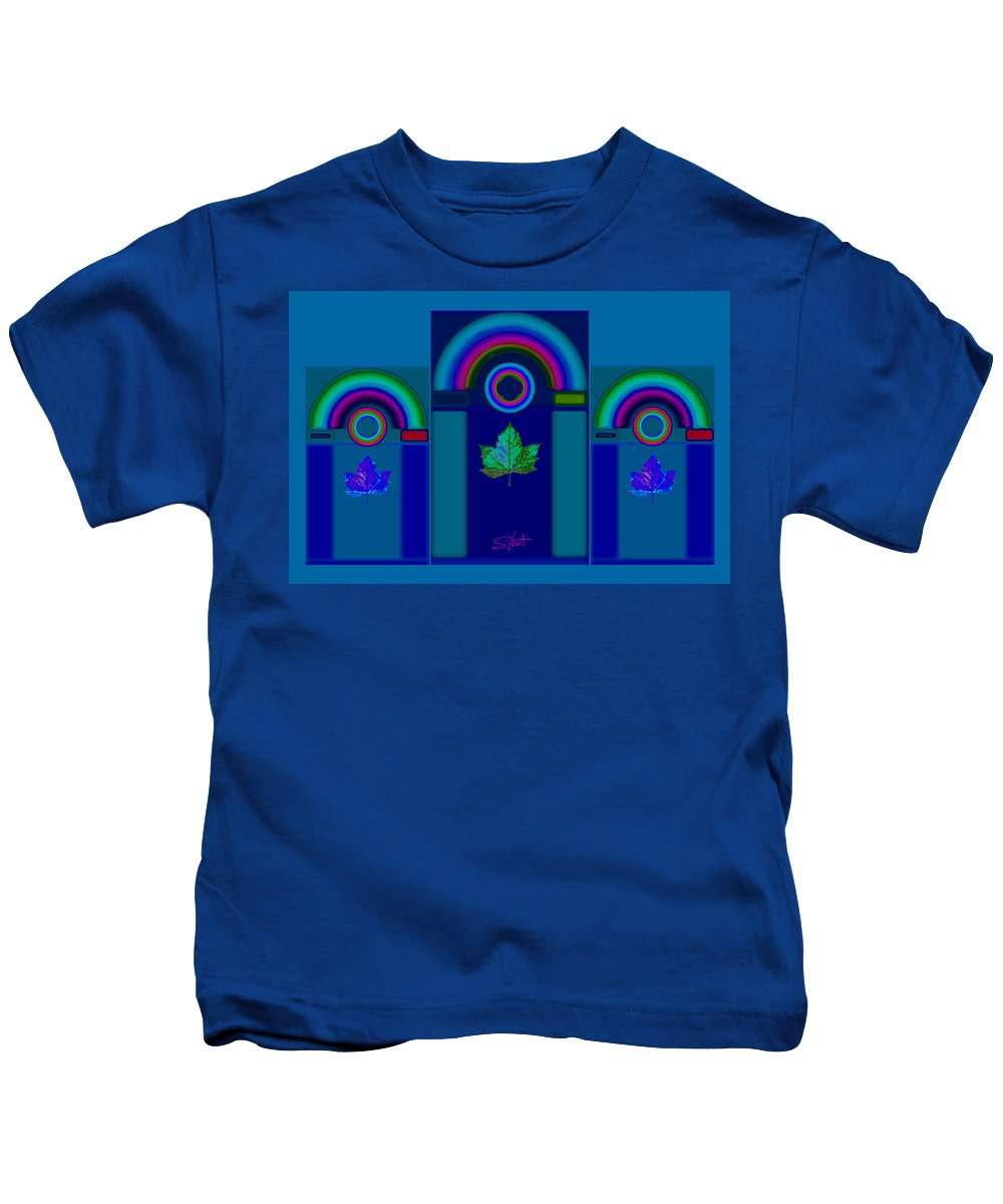 Classical Kids T-Shirt featuring the digital art Tuscan Winter by Charles Stuart