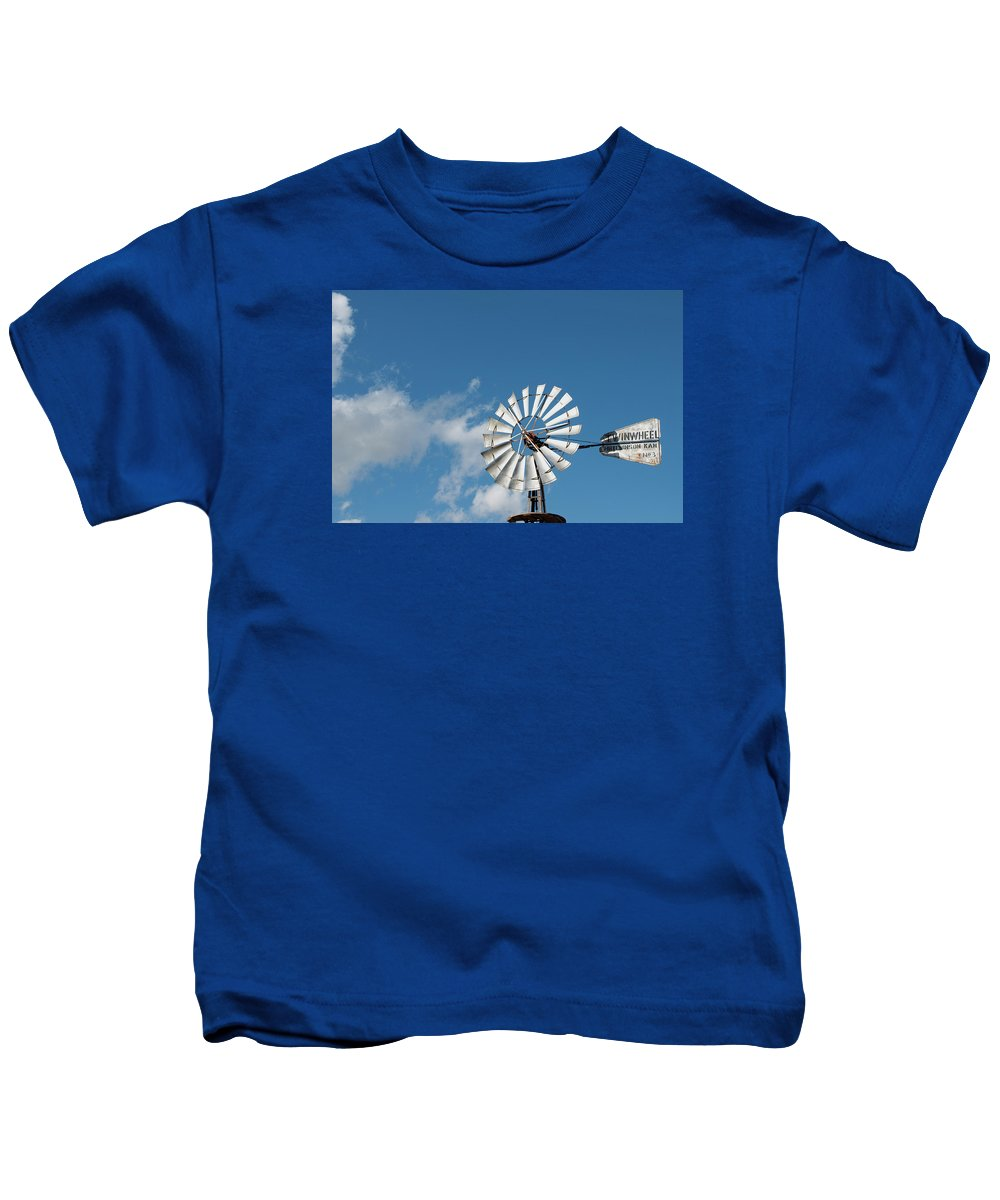 Windmill Kids T-Shirt featuring the photograph Twinwheel by David Arment