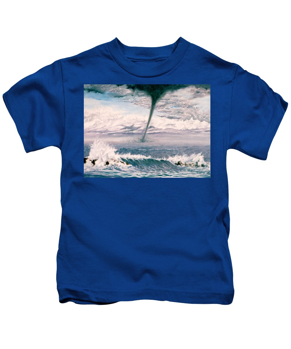 Seascape Kids T-Shirt featuring the painting Twisted Nature by Mark Cawood