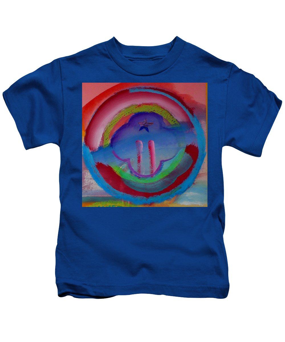 Logo Kids T-Shirt featuring the painting two by Charles Stuart