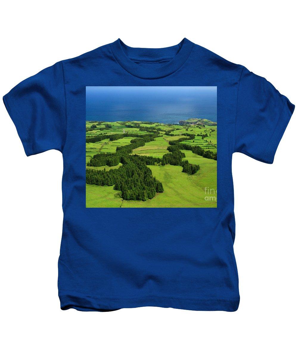 Landscape Kids T-Shirt featuring the photograph Typical Azores Islands Landscape by Gaspar Avila