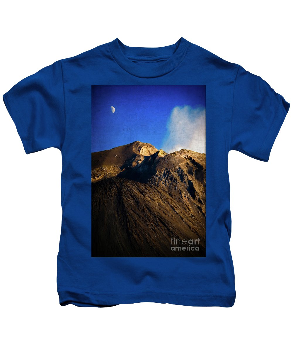 Vernazza Kids T-Shirt featuring the photograph Vernazza On Fire by Doug Sturgess
