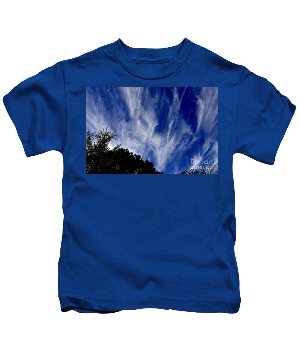Clay Kids T-Shirt featuring the photograph Vertical Clouds by Clayton Bruster