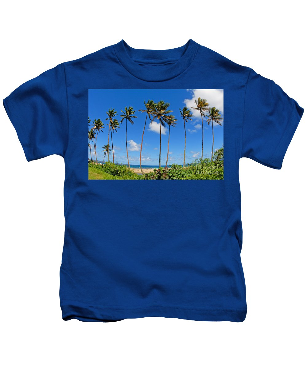 Afternoon Kids T-Shirt featuring the photograph View Of Fiji by Himani - Printscapes