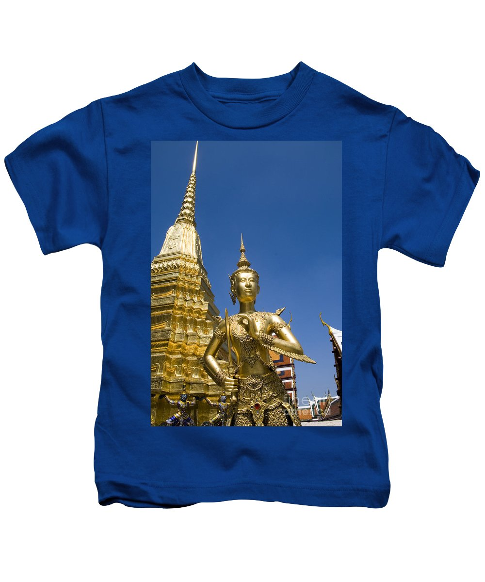 Afternoon Kids T-Shirt featuring the photograph Wat Phra Kaeo by Bill Brennan - Printscapes