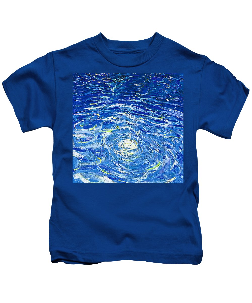 Pool Kids T-Shirt featuring the mixed media Water In The Pool by Dragica Micki Fortuna