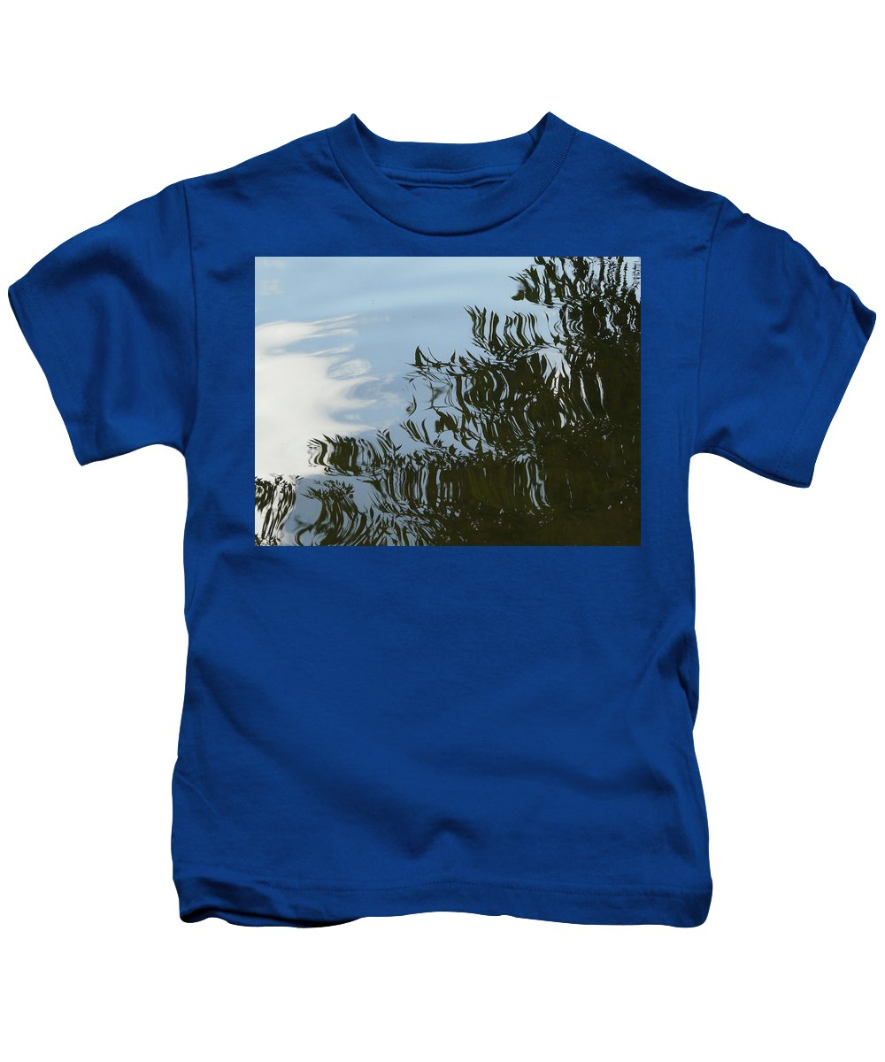 Tree Kids T-Shirt featuring the photograph Weeping Willow Reflection by Valerie Ornstein