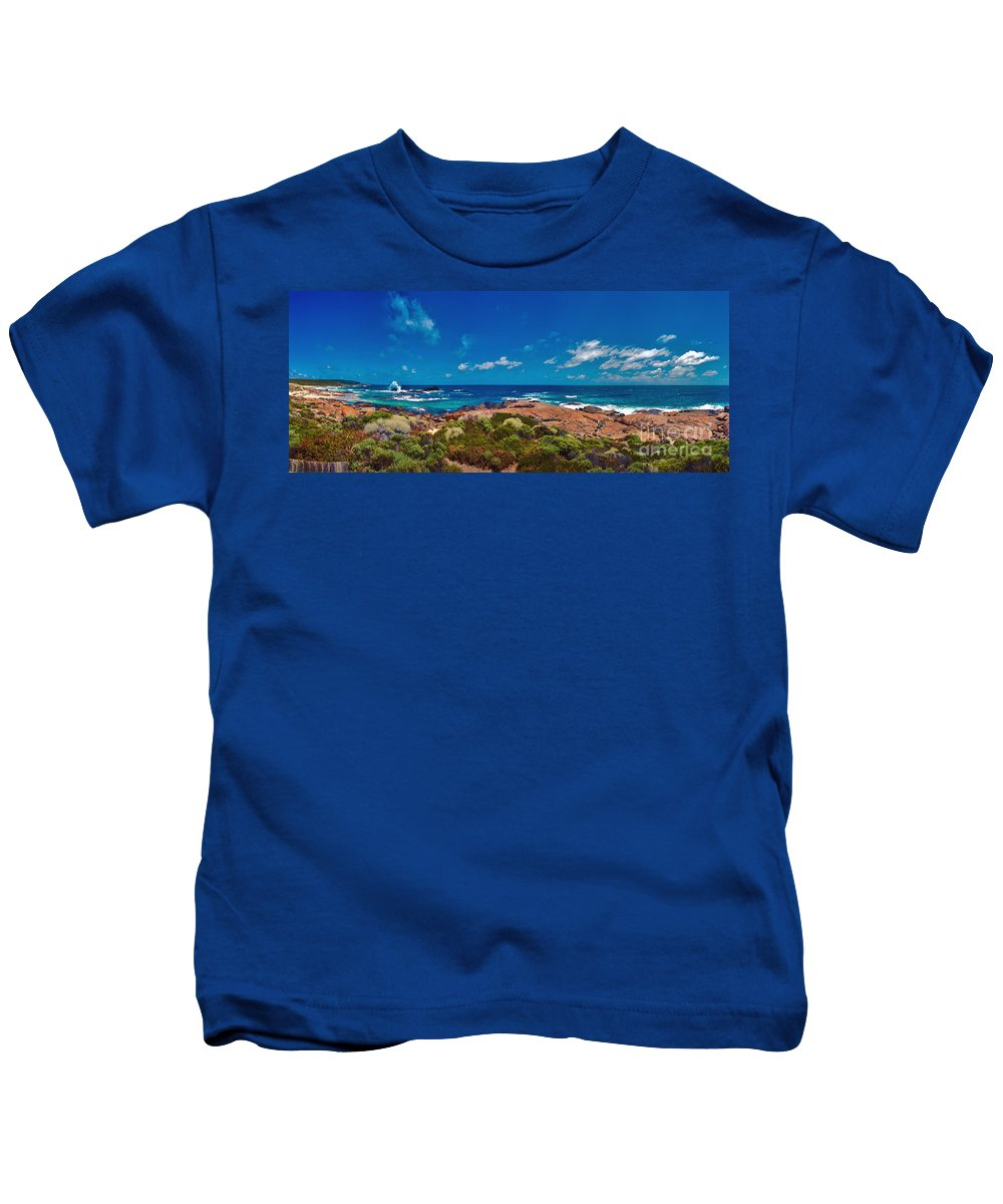 Boodjidup Beach Kids T-Shirt featuring the photograph Western Australia Beach Panorama by David Zanzinger