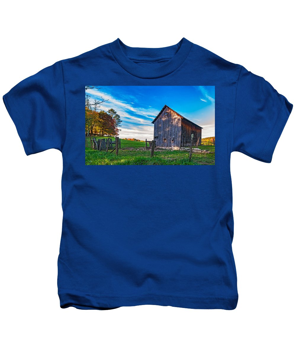 West Virginia Kids T-Shirt featuring the photograph Where Silence Lives by Steve Harrington