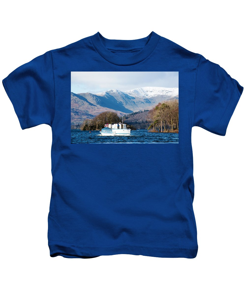 Cruise Kids T-Shirt featuring the photograph Windermere Cruise by Susan Tinsley