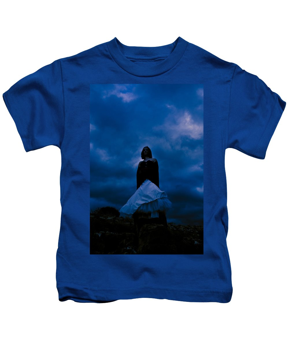 Mystery Kids T-Shirt featuring the photograph Windy Mistery by Scott Sawyer