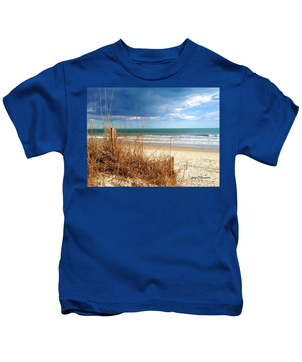 Beach Kids T-Shirt featuring the photograph Winter At The Beach Is Still Beautiful by Joey OConnor