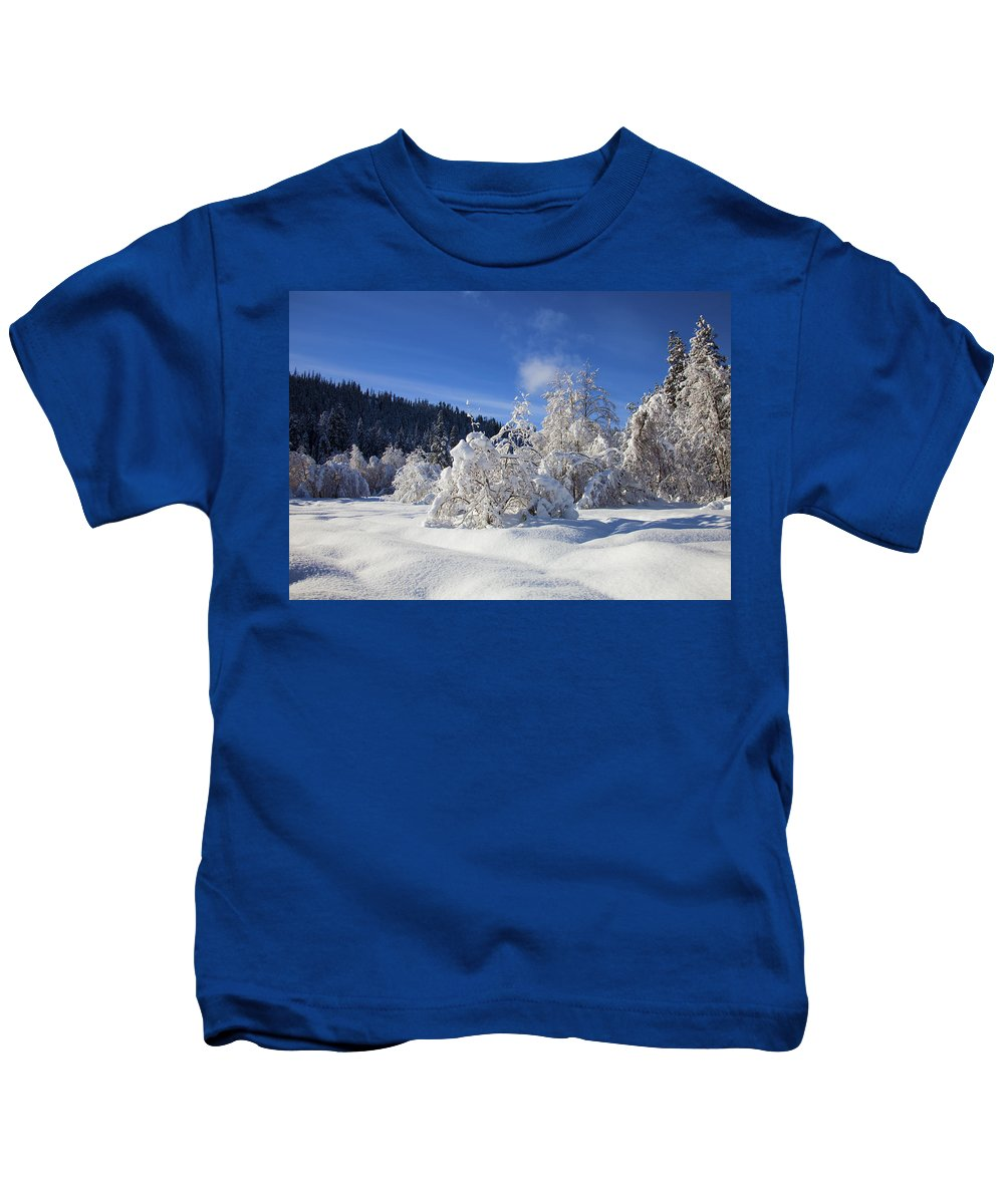 Snow Kids T-Shirt featuring the photograph Winter Blanket by Mike Dawson