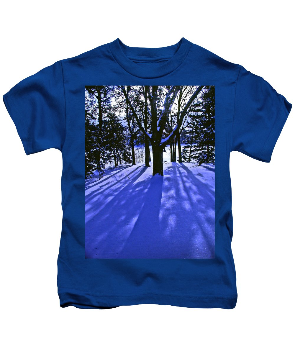 Landscape Kids T-Shirt featuring the photograph Winter Shadows by Tom Reynen