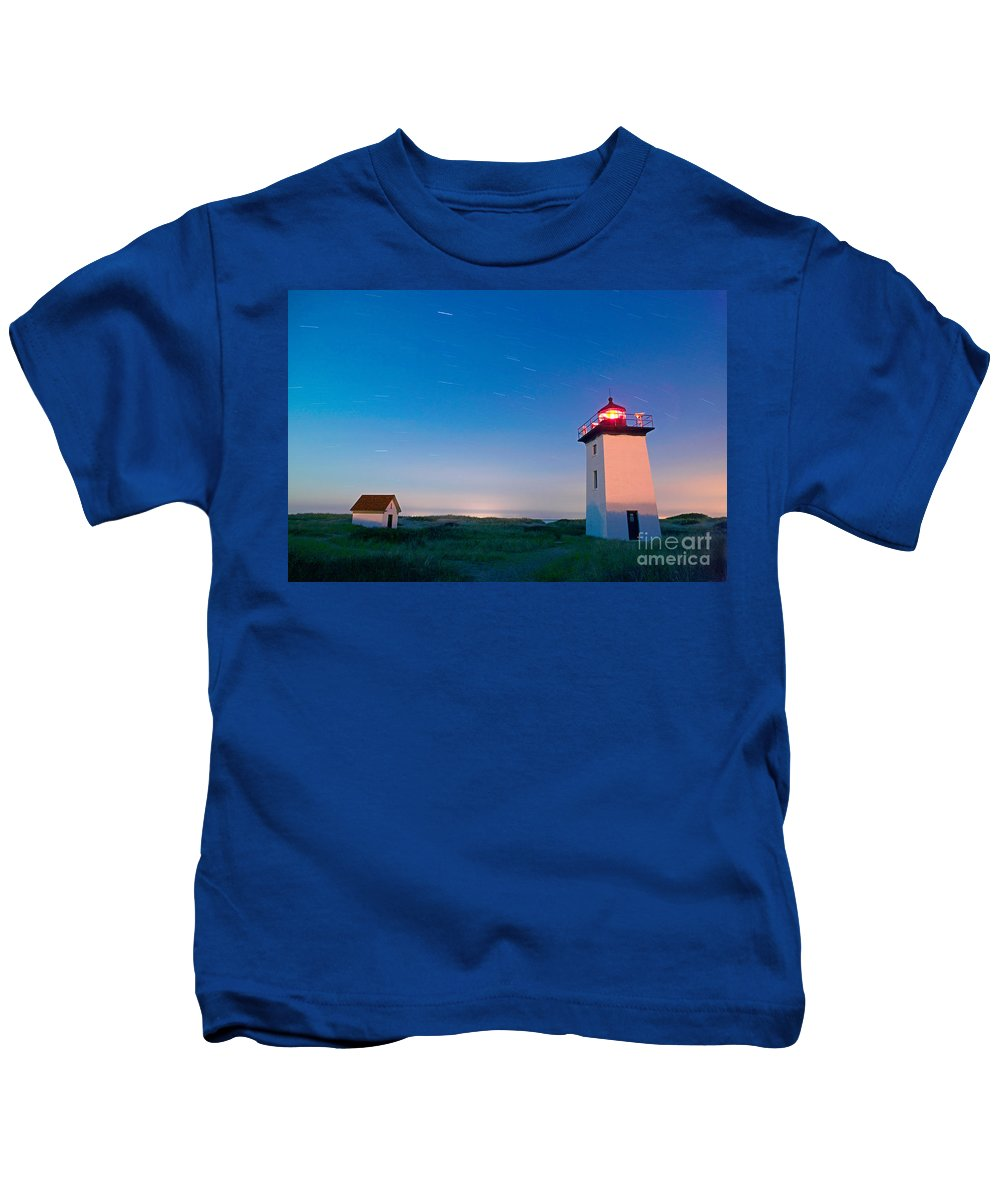 Wood End Lighthouse Kids T-Shirt featuring the photograph Wood End Lighthouse Provincetown Cape Cod by Matt Suess