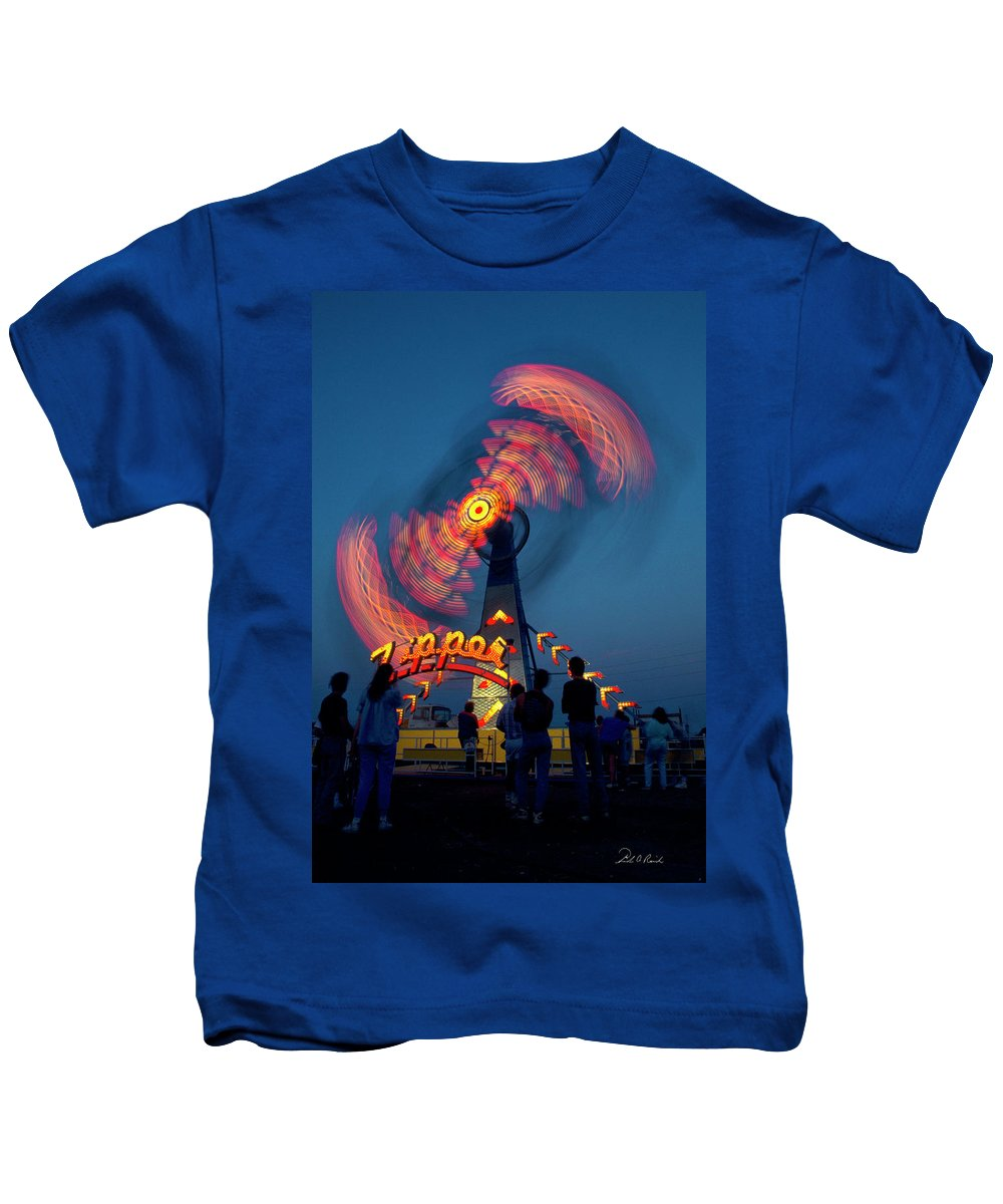 Photography Kids T-Shirt featuring the photograph Zipper Two by Frederic A Reinecke