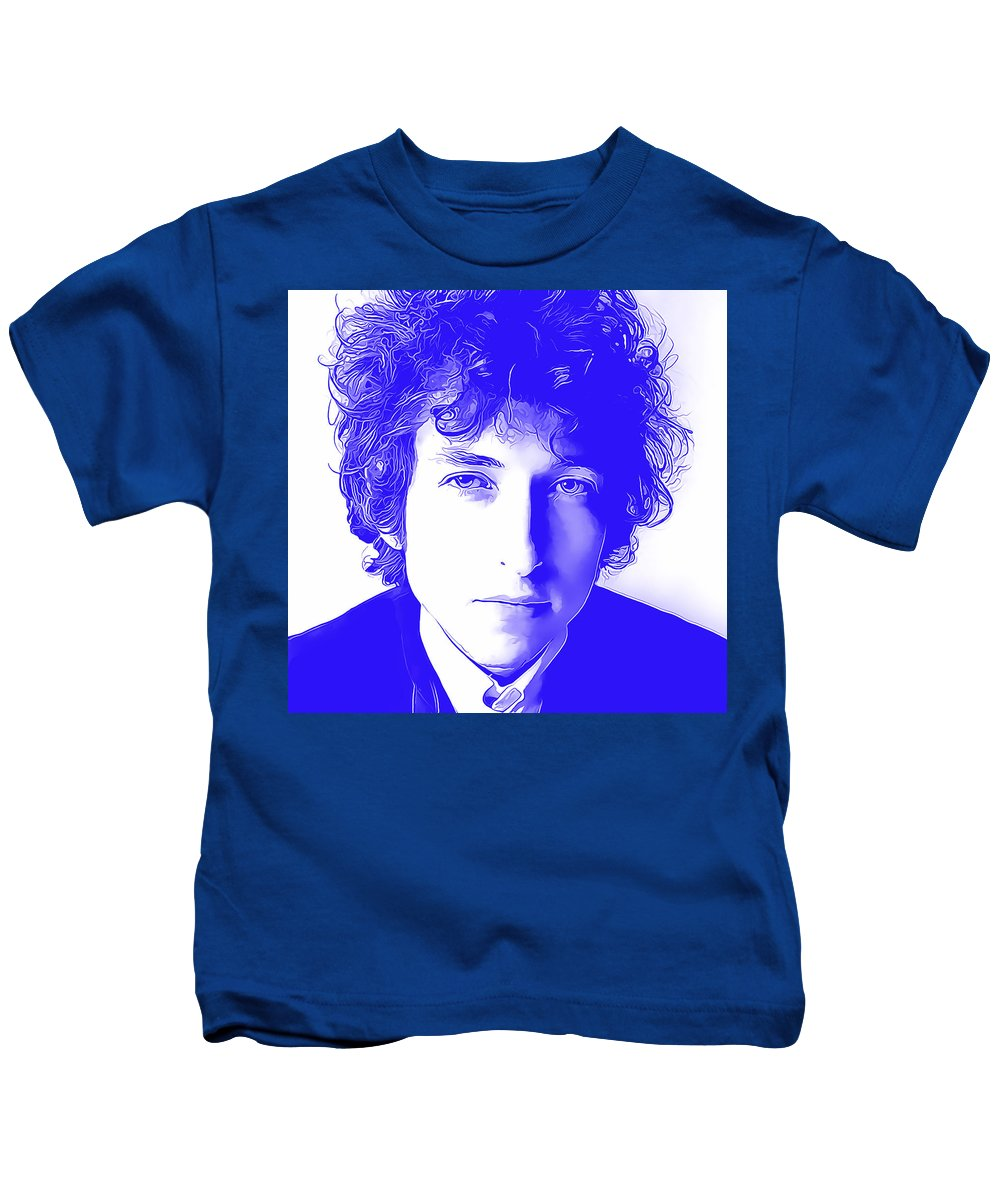 Bob Dylan Kids T-Shirt featuring the mixed media Bob Dylan by Marvin Blaine