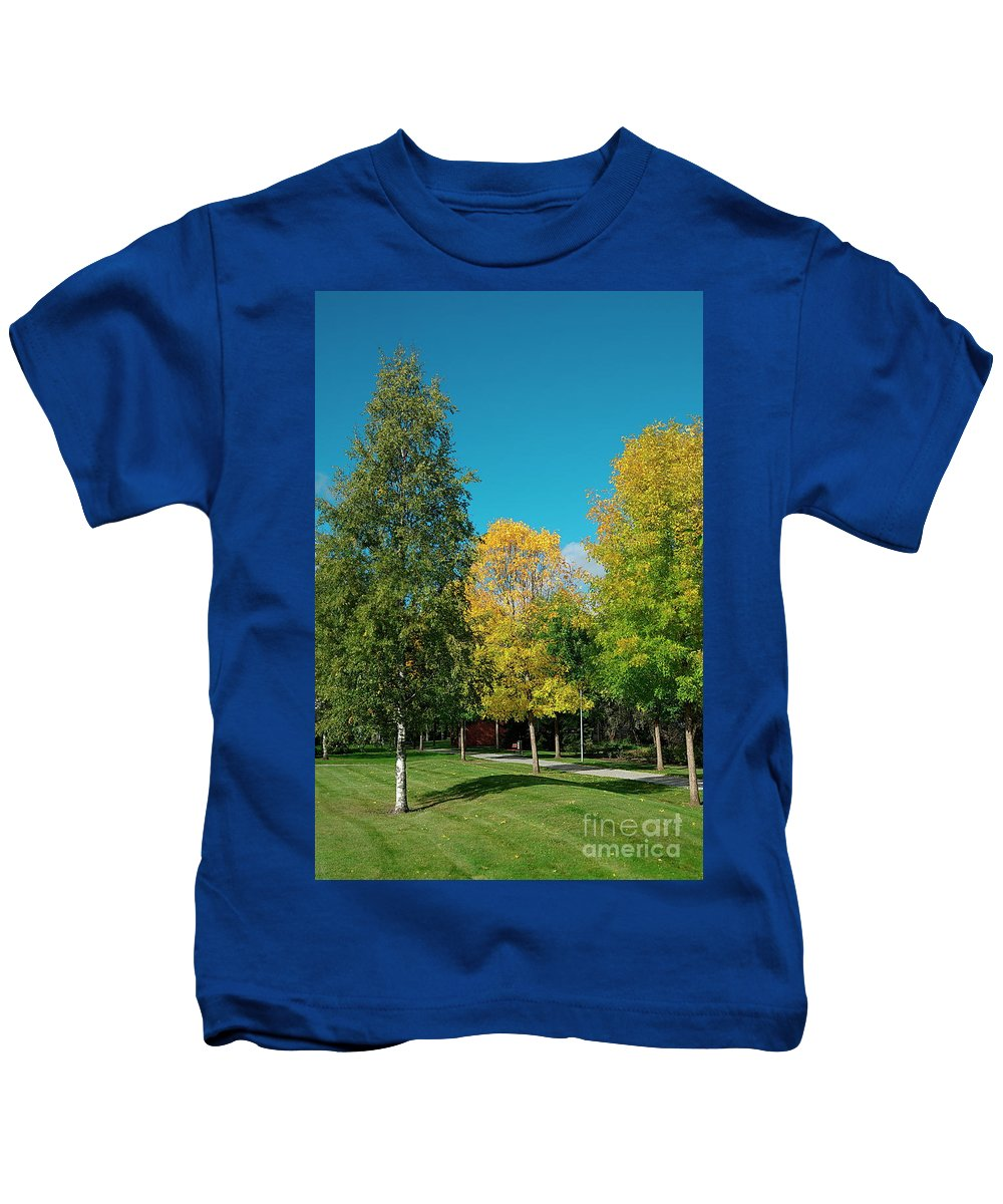 Trees Kids T-Shirt featuring the photograph Park by Esko Lindell