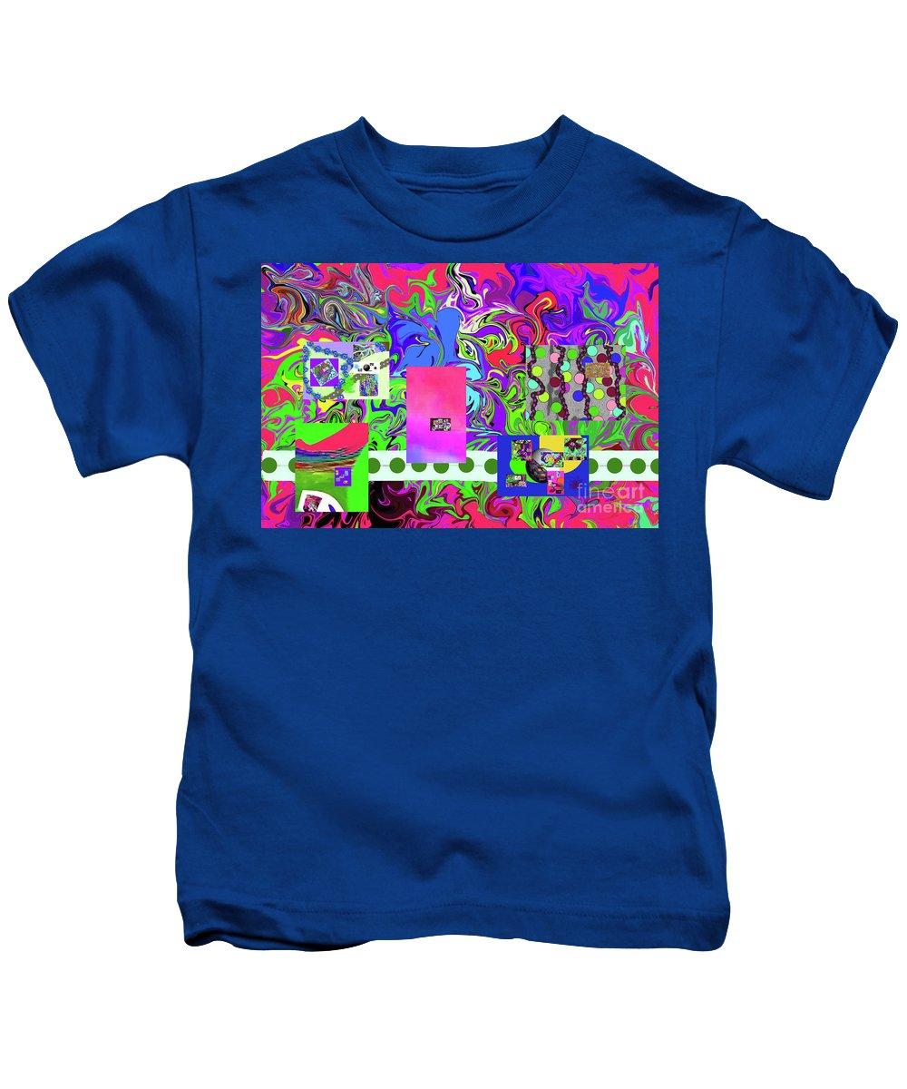 Walter Paul Bebirian Kids T-Shirt featuring the digital art 9-10-2015bab by Walter Paul Bebirian