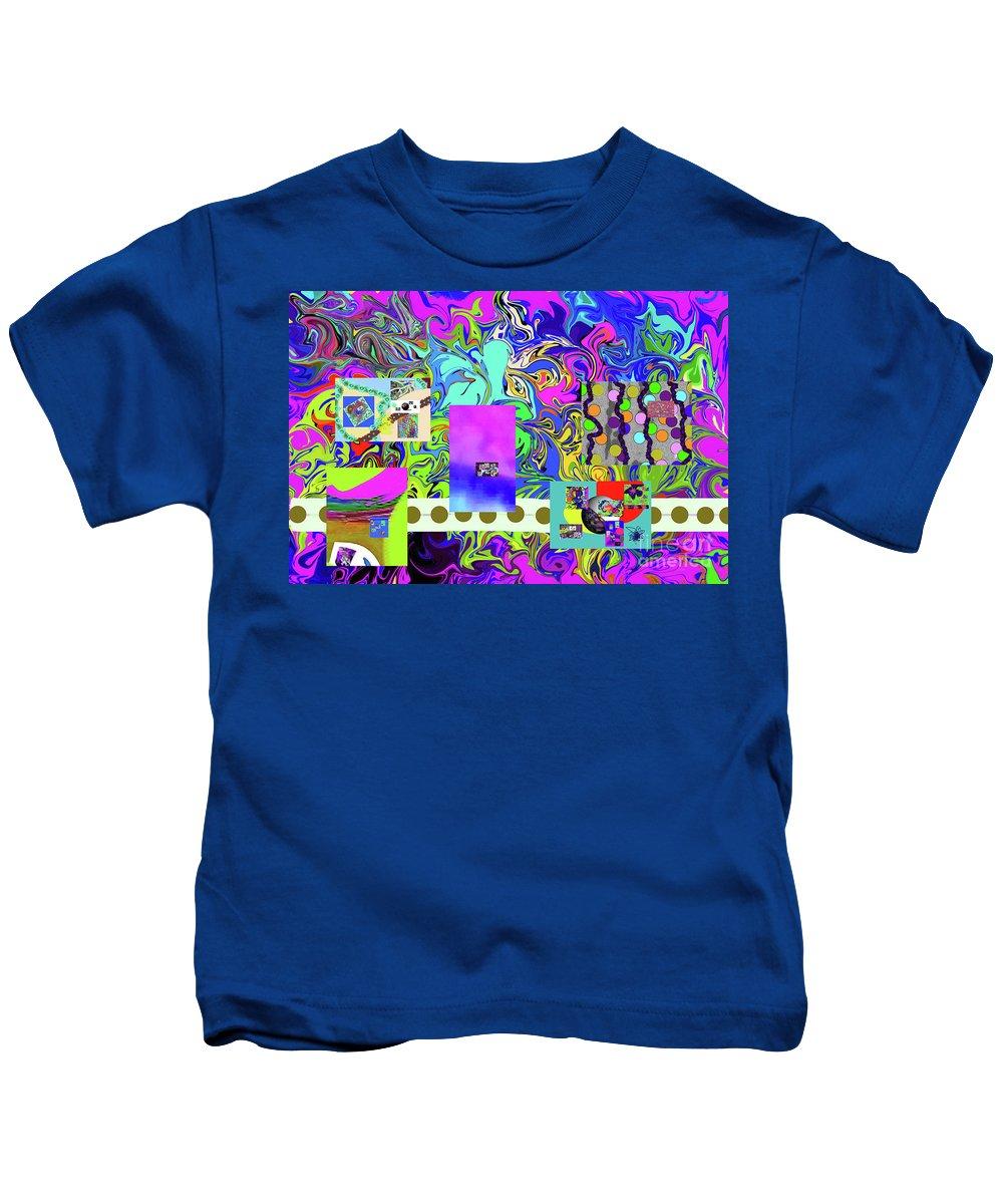 Walter Paul Bebirian Kids T-Shirt featuring the digital art 9-10-2015babcdefg by Walter Paul Bebirian