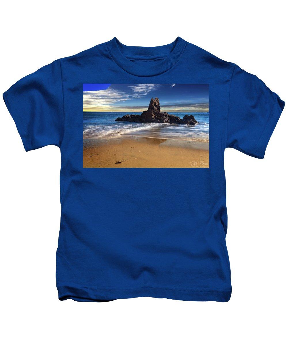 Corona Del Mar Beach Kids T-Shirt featuring the photograph Corona Del Mar Beach by Bill Thomas