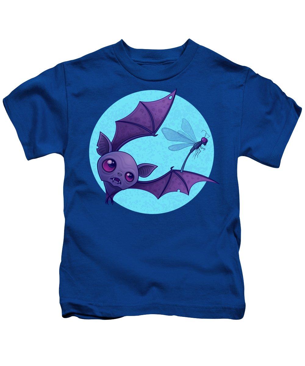 Animal Kids T-Shirt featuring the digital art Damselfly In Distress by John Schwegel