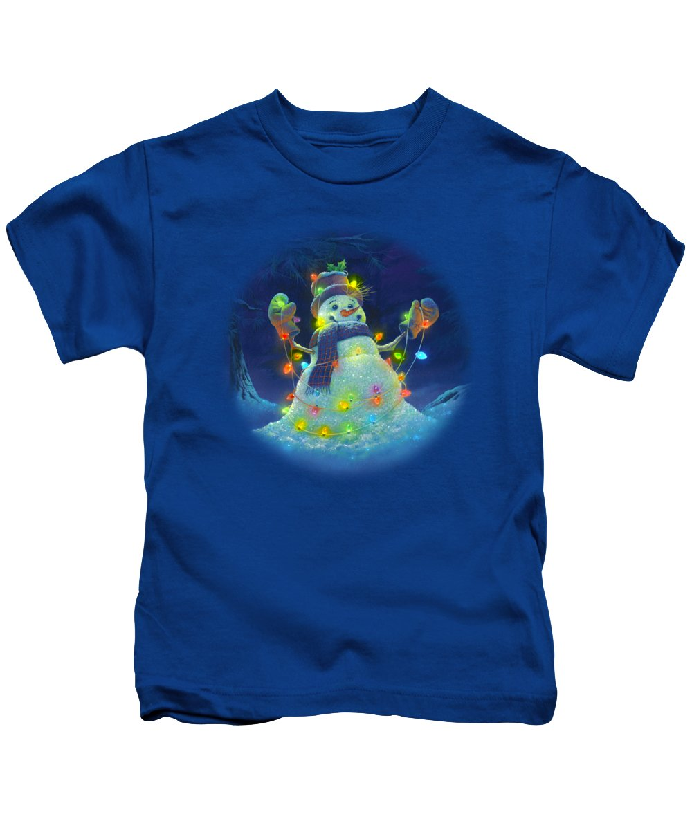 Michael Humphries Kids T-Shirt featuring the painting Let It Glow by Michael Humphries