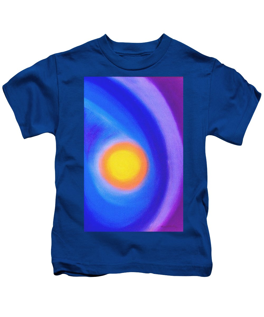 Sun Kids T-Shirt featuring the painting The Sun by Micah Guenther