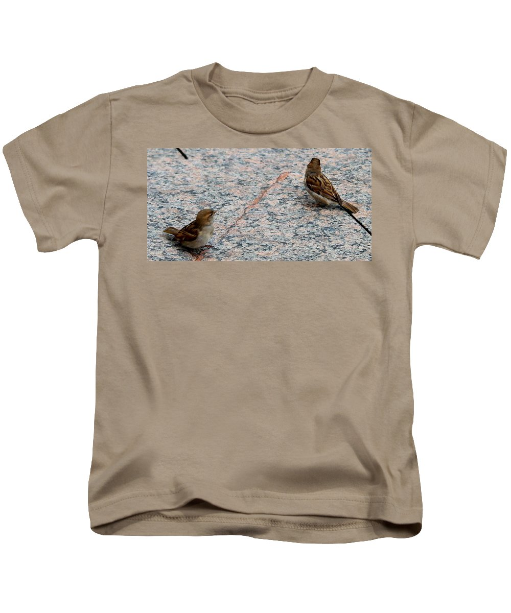 Birds Kids T-Shirt featuring the photograph Birds Of A Feather by Debbie Levene