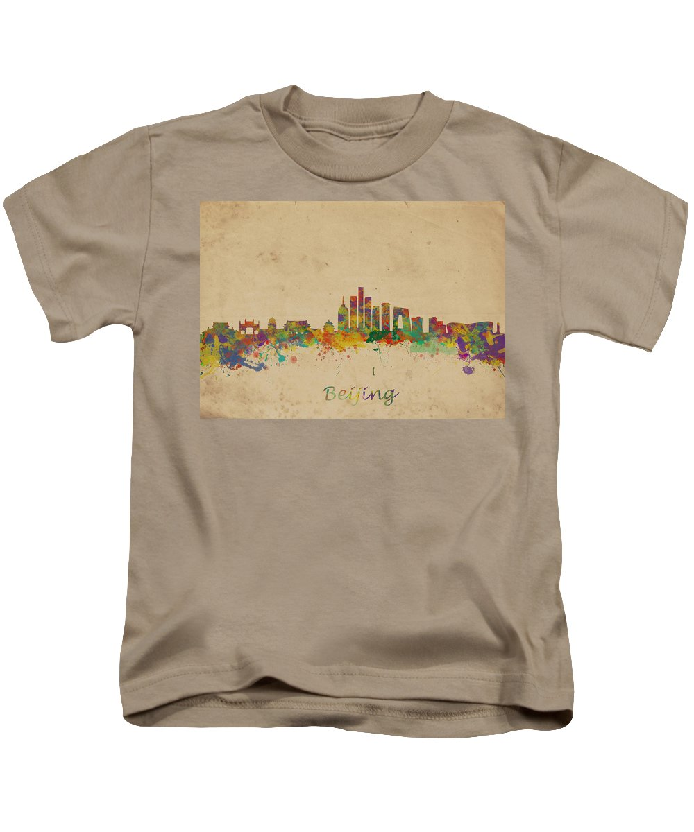 Beijing Kids T-Shirt featuring the photograph Beijing China Skyline by Chris Smith