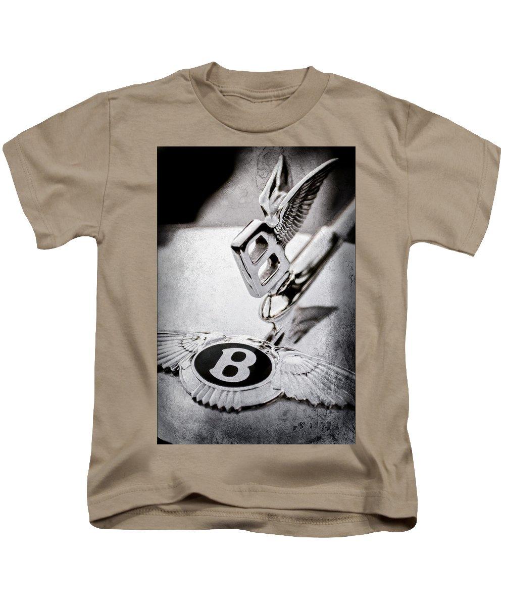 Bentley Hood Ornament Kids T-Shirt featuring the photograph Bentley Hood Ornament - Emblem by Jill Reger