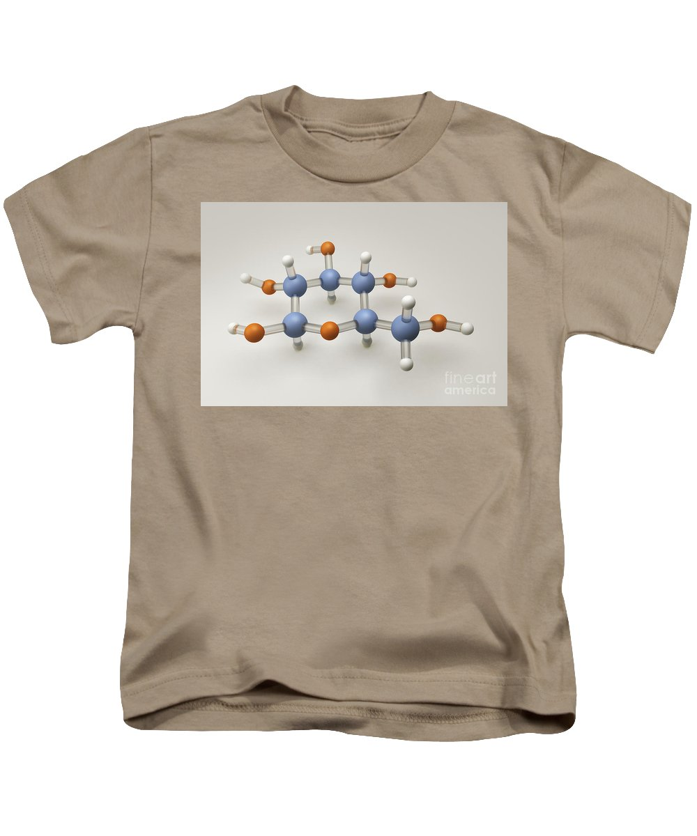 Close-up Kids T-Shirt featuring the photograph Glucose Molecule by Science Picture Co