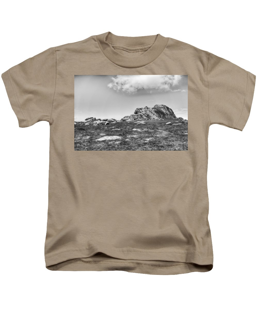 Kids T-Shirt featuring the photograph Haytor Rock by Howard Salmon